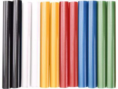 Obrázek EXTOL tyčinky tavné, mix barev, pr.11x100mm, 12ks