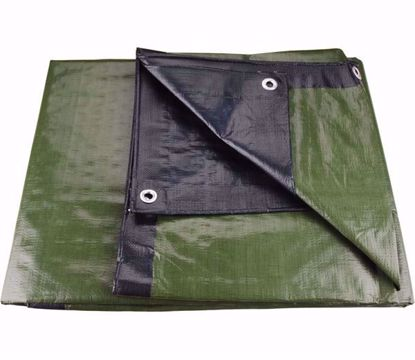 Obrázek Plachta 3x5 m zesílená nepromokavá s oky zelená 100g/m2
