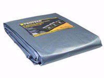 Obrázek PROTECO plachta 2x3 m extra silná nepromokavá s oky šedá 160g/m2