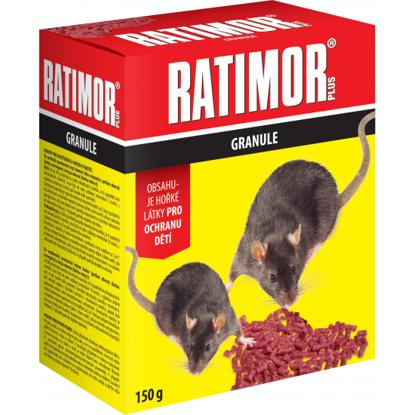 Obrázek RATIMOR PLUS nástraha na hlodavce, granule 150 g, krabička