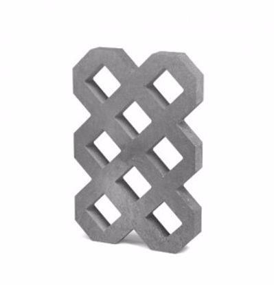 Obrázek Zatravňovací dlažba VD600+, 60 × 40 × 6 cm - šedá