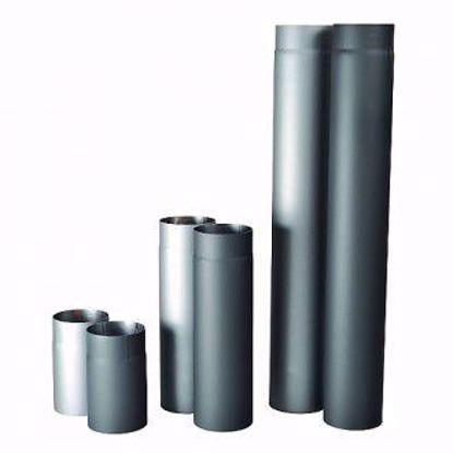 Obrázek Roura kouřová silnostěnná černá 160 mm / 1,5 mm / 1000 mm