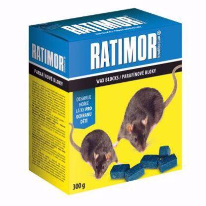 Obrázek UNICHEM RATIMOR BRODIFACOUM parafinové bloky 300 g
