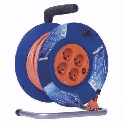 Obrázek EMOS PVC prodlužovací kabel na bubnu – 4 zásuvky, 25m 1,5mm2