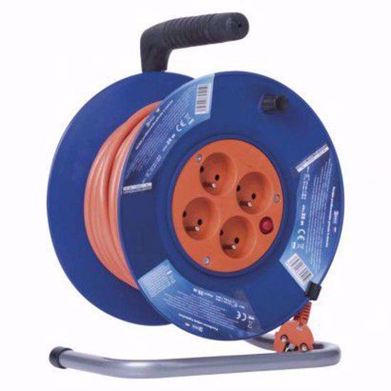 Picture of EMOS PVC prodlužovací kabel na bubnu – 4 zásuvky, 25m 1,5mm2
