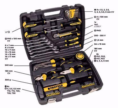 Obrázek PROTECO - 42.04-1142 - sada nářadí v kufru, 42 dílů