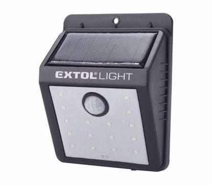 Obrázek Solární nástěnné svítidlo s pohybovým sensorem EXTOL LIGHT 43130