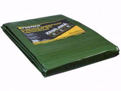 Obrázek Plachta 5x8 m zesílená nepromokavá s oky zelená 100g/m2
